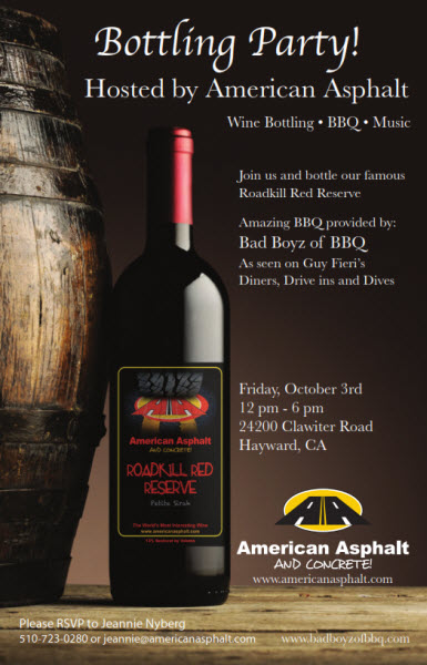 Bottling Party Friday Oct 3rd