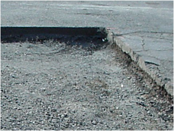 dig out and repair of road and driveway